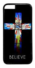 For Apple iPhone Models Christian Religious Cross Pattern Slim Back Case Cover