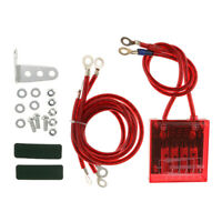 Universal Car Fuel Saver Grounding Voltage Stabilizer Regulator Kit (Red)