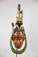 AG9 Guro Baule Maske alt Afrika / Masque Gouro ancien / Old tribal mask Africa
