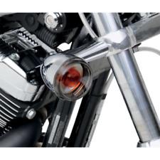 Drag Specialties Bullet Turn Signal Smoke Lens Kit 04-13 Harley Davidson V-Rod