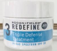 Rodan and Fields Redefine Triple Defense Treatment AM Cream New Sealed Fast Ship