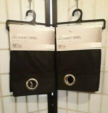 Black Lace Grommet Curtains 2 Panels 54 x 90