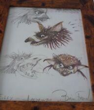 Framed Original Print Jim henson Labyrinth loot crate DX #11 Artwork drawn