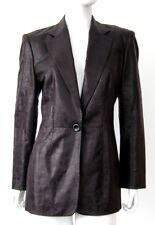 LAUREL Germany Vintage 1970s Black Alligator Suit Blazer Jacket Coat Sz 38 US 8