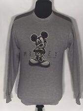 Mickey Mouse Since 1928 Walt Disney Cartoon Character Gray Pullover Sweatshirt