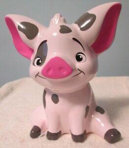 Disney Moana Pua Pig Pixar Coin Piggy Bank Collectible