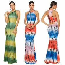 Women's Party Sexy Slim fit Printing Bodycon Dress Sleeveless Ball Gown Dresses