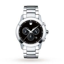 Movado 0607037 Men's Masino Chronograph Black Quartz Watch New