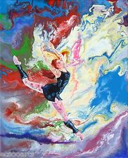 Ballerina, Summer Story #4, Original Acrylic Abstract Painting, Artist Signed