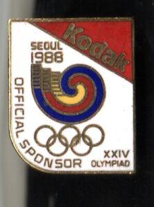 SEOUL 1988 OLYMPIC GAMES. OLYMPIC GAMES SPONSOR PIN. KODAK. XXIV OLYMPIAD