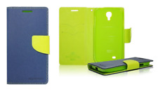 Funda Carcasa Fancy Cartera (Azul y verde) ~ Apple iPhone 4 / iPhone 4S