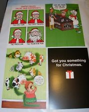 24 Christmas Cards & Envelopes Shoebox Humor 6 Of Each Design Elf Holiday 5X7