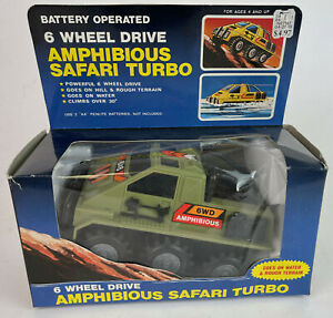 Vintage 6 Wheel Amphibious Safari Turbo NOS K-Mart Stopmer Like? Battery Toy~~