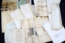 1840 Archive Invention Sugar Machine Brame Chevalier- Manuscripts & Drawings.