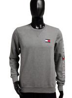 Neu Tommy Hilfiger Herren Sweater Pullover grau grey Logo