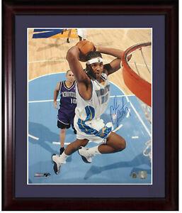 Carmelo Anthony Nuggets signed 16x20 photo framed Rookie Autograph COA LE 15/15