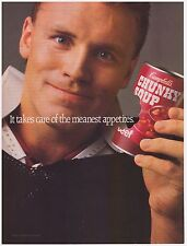 Original 1987 Campbell's Chunky Soup with Howie Long Print Ad
