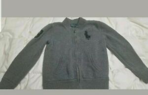 Ralph lauren polo Sweater boys Size 8 Gray EUC