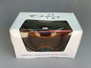 Oakley Stockholm Jet Black w/ HI Yellow Snow Ski Goggles 100% AUTHENTIC / NEW