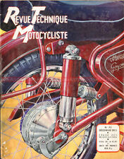 Revue Technique Motocyclisme 72 : MONET GOYON M2VD M.2.V.S M2VS RUMI 125 1953