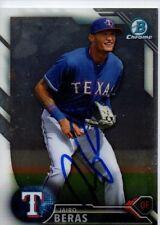 Jairo Beras Texas Rangers 2016 Bowman Chrome Signed Card