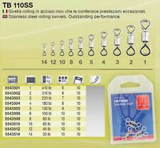 GIRELLA PESCA IN ACCIAIO INOX TB 110 SS SIZE 6 TUBERTINI 100 LB ROLLING SWIVEL