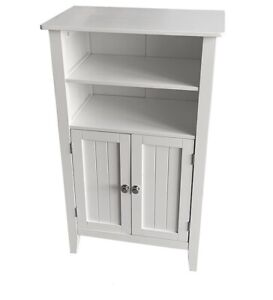 Priano Freestanding Bathroom Cabinet Unit White Vanity Cupboard Storage Unit