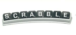 Scrabble Silver Line Game Replacements Black Tiles w Silver Letters Racks More