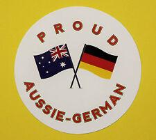 PROUD AUSSIE - GERMAN AUSTRALIAN STICKER VINYL DECAL CAR UTE TRUCK CARAVAN