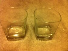 (2) JACK DANIEL'S SINGLE BARREL SELECT SIPPERS / LOW BALL-SQUARE--FREE SHIP-VGC-