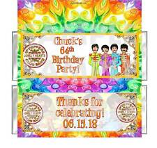 BEATLES RETRO PEPPER YELLOW SUB BIRTHDAY PARTY candy bar wrappers FREE FOILS
