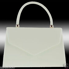 Fi9 Retro Tote Patent Leather Bridal Wedding Evening Handbag Party Purse