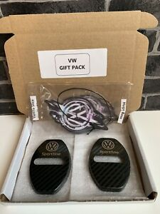 VW TRANSPORTER SPORTLINE GIFT-PACK 2 X VW Air Fresheners & 2 X Door Lock Covers)