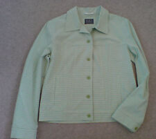 Betty Barclay Weekend Size 10 Pale Green/White Casual Buttoned Jacket