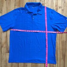 Nike Golf Dry-Fit Blue Polo Shirt XL