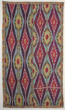 Antique Silk Ikat Parda; Late 19th Century; Uzbekistan; 2-8 x 4-9 ft.