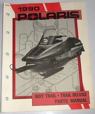 VINTAGE POLARIS USED SNOWMOBILE PARTS MANUAL INDY TRAIL &  DELUXE 1990 9911683