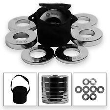 """Olympic Fraction Weight Plates Set 0.25-1kg │ 2"""" Low Weight Carry Bag by BodyRip"""