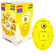Geomag Kor Egg - Yellow - 55 Piece Creative Magnet Playset