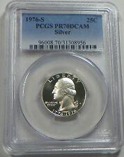 1976-S Silver Proof Washington Quarter Coin PCGS PR70DCAM  - FREE SHIPPING