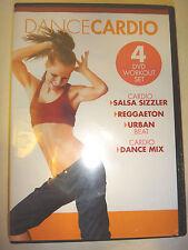 NEW!! GAIAM-  Dance Cardio Box Set (4 DVDs) Salsa, Regga, Urban & Dance