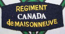 paire d'insignes canadien du régiment de Maisonneuve