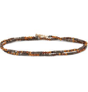 LUIS MORAIS Multi-Stone And Gold Bracelet Tiger Eye Brown 1SKO2BYB 14K Gold