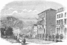 BELGIUM. Spa-Arrival of Duke Brabant, antique print, 1856