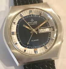 Big SS Baylor Automatic Alarm Day Date Cricket Fancy Dial All Functions Work