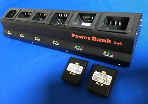 6 Bank Pro Charger(UL/CE)For SYMBOL MC55/MC65/MC67...(Non included batteries)