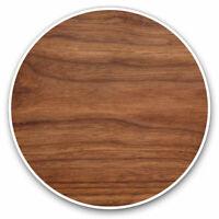 2 x Vinyl Stickers 7.5cm - Dark Brown Wood Effect Joiner Cool Gift #15765