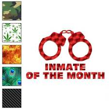 Inmate Of The Month Decal Sticker Choose Pattern + Size #1872