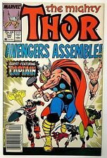 (VF) MIGHTY THOR #390 (1988)!  1st Captain America Lifts Mjolnir!  Hot Comic!!!