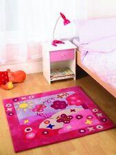 Kiddy Play Girls Pink Summertime Square Modern Quality Soft 90x90 Floor Rug Mat